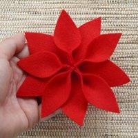 Flor do natal em feltro, como fazer