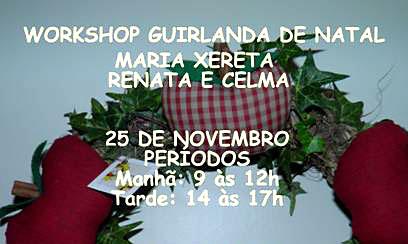 Workshop guirlandas natalinas no Atelier Retalhos Etc e Tal