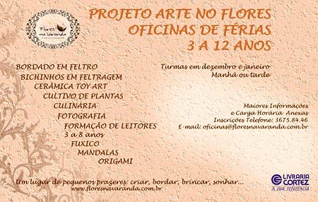 Oficinas para crianças com Jaci Ferreira