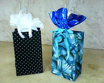 Embalagens tetrapack decoradas para caixas de presente