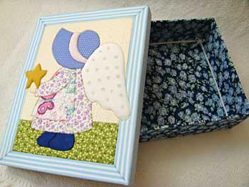 Caxinhas decoradas para enfeitar o quarto do bebê