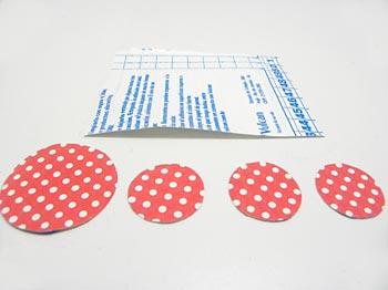 Para fazer as pegadas vamos usar círculos em dois tamanhos