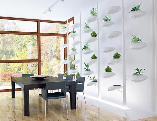 Jardim vertical auto-sustentável com design assinado