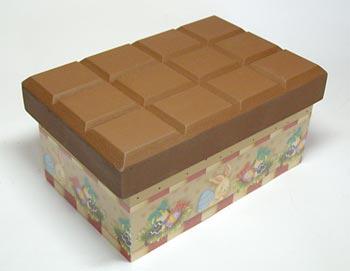 Caixa com aparência de barra de chocolate