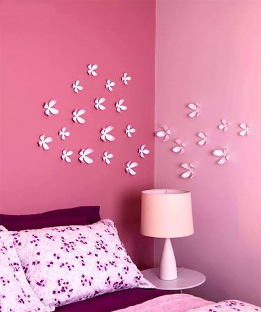 Flores decorativas de parede em painel livre
