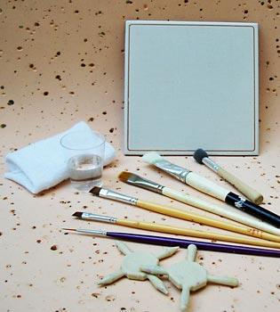 Pincéis mais usados para pintar o EVA