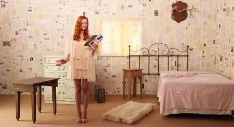 O papel de parede é de páginas de livros