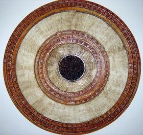 Mandala com foco num círculo central