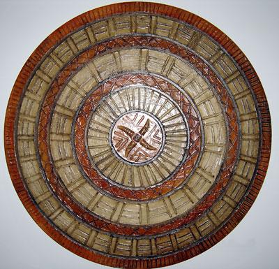 Mandala geométrica com desenhos feitos à mão