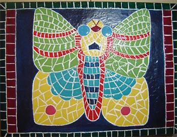 Falso mosaico em peça decorativa
