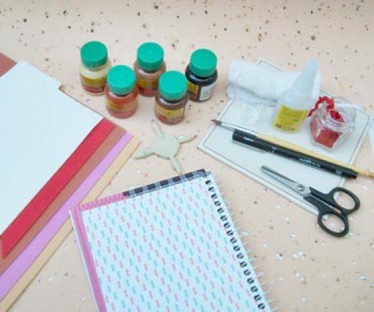 Material para a capa de caderno de receitas em EVA
