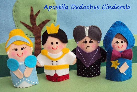 Apostilas de dedoches de personagens de histórias infantis