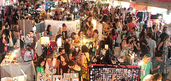 Imagem de uma das edições do bazar O Mercado