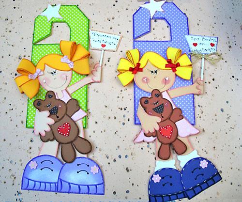 Sinalizadores de porta em EVA para decorar quarto de meninas