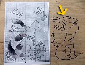 Confira o desenho transferido para o acetato