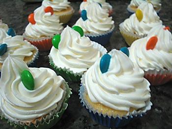 Cupcakes de festa são trabalhos artesanais