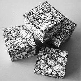 Caixas-arte, cada uma conta uma história