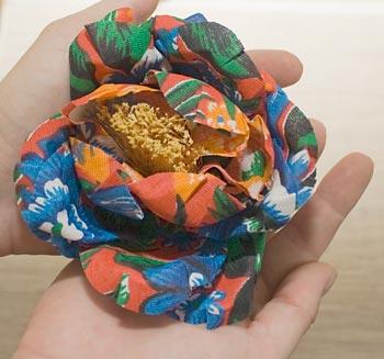 Preparei flores de chita