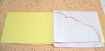 Prepare o molde em cartolina