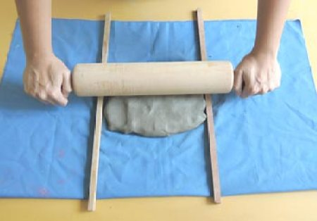 Posicione a massa entre as varetas