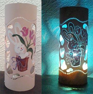Luminária de PVC para a Páscoa