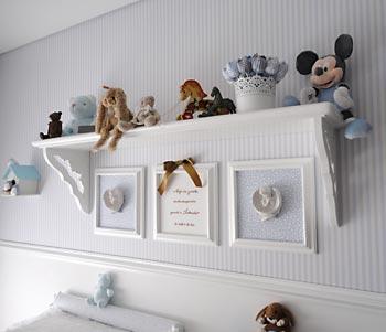 Quartinho de bebê decorado com artesanato