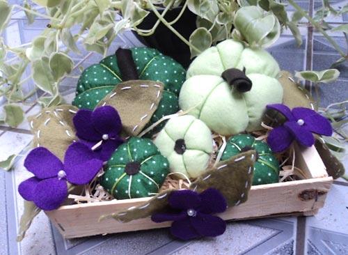 Caixa de frutas transformada em enfetie