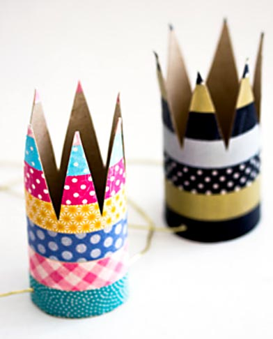 Coroas reais para as festas infantis