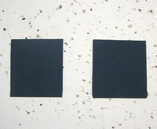 Corte dois quadradinhos pretos