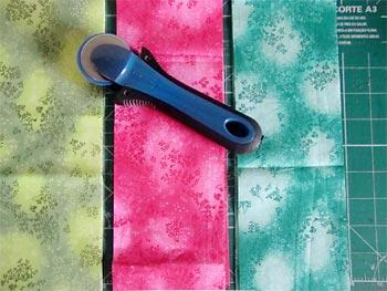 Corte os tecidos em composé