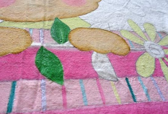 Pinte flores e folhas