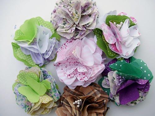 Flores de tecido artesanais para o Dia das mães