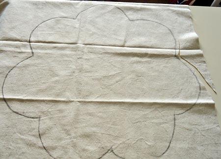 Posicione o desenho no tecido