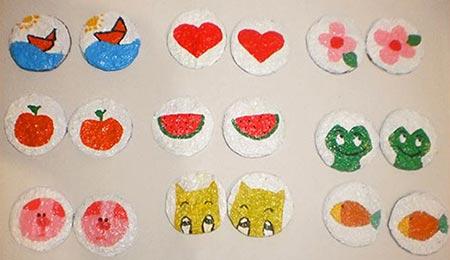 Desenhos coloridos para o jogo de memória