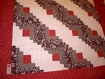 Log Cabin, mais uma técnica do patchwork