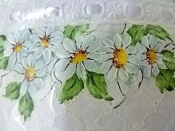 Toalhinhas pintadas à mão
