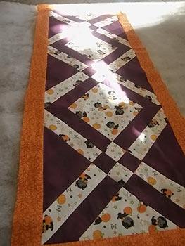 Trilho de mesa com abóboras