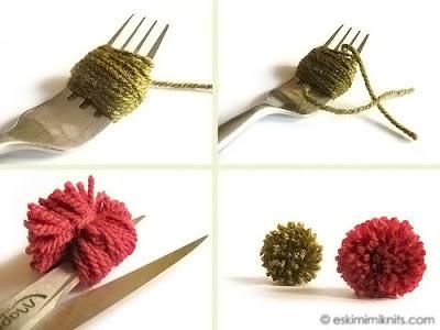 Como fazer um pompom com garfo