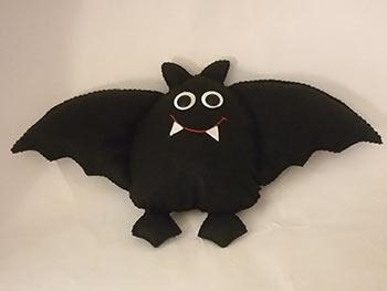 Morcego vampiro em feltro para o Halloween