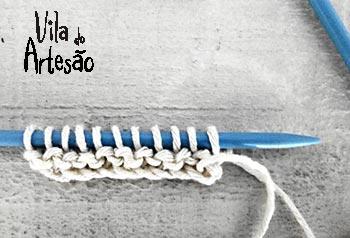 Siga tricotando até o tamanho desejado