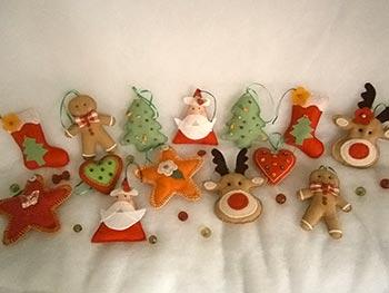 Enfeites para festões e árvore de natal