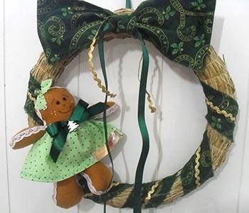 Guirlanda com enfeite de natal Gingerbread