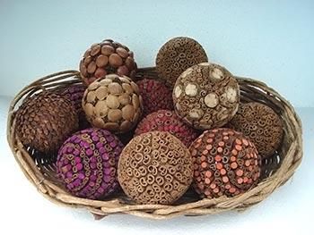 Topiarias feitas com sementes