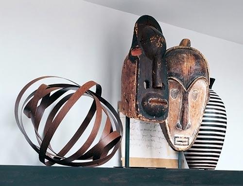 Máscaras tribais como obras de arte