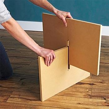 Lixe bem a madeira antes de encaixar