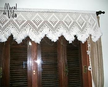 Bandô de cortina todo feito em crochê
