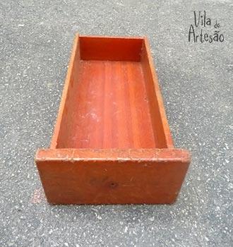 Gaveta usada para o oratório