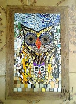 Painel decorativo com mosaico