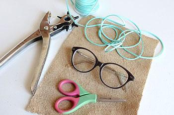 Material para o porta-óculos
