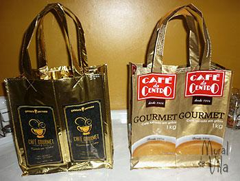 Sacolas para compras de embalagens de café